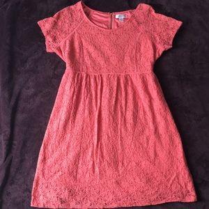 Motherhood Maternity | Pink Lace Dress 2X